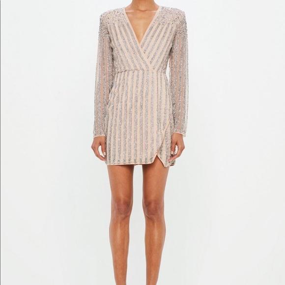 25103b06793e Missguided Dresses | Carli Bybel X Nude Embellished Dress | Poshmark